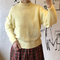lady's pastel yellow knit tops