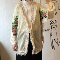 lady's embroidery&fringe gown