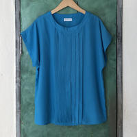 lady's light blue tuck tops