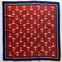 lady's tricolore color anchor pattern scarf