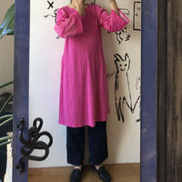 lady's pink dot hand made one-piece