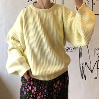lady's pastel yellow color sweater