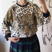lady's 1980's cheetah print sweat