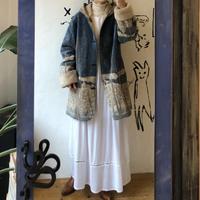 lady's eco fur reversible coat