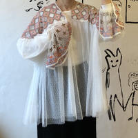 lady's soft tulle smock  tops