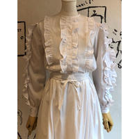 lady's white frill top