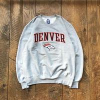 Men's 90s Champion NFL DENVER BRONCOS logo patch sweat(Men's XL)