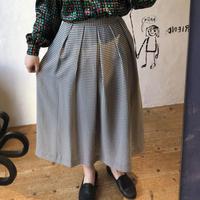 lady's gingham check skirt