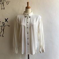 lady's white color western shirt