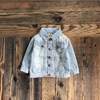 kids OSHKOSH hickory denim jacket(6M/60〜70cm)