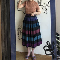 lady's horizontal stripes skirt