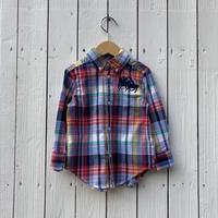 kids Ralph Lauren check L/S shirt(2T/90cm)