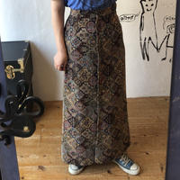 lady's gobelin button down skirt
