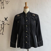 lady's horse embroidery western shirt