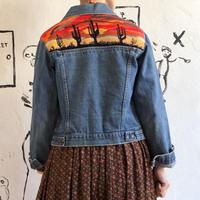 lady's 1970's denim jacket