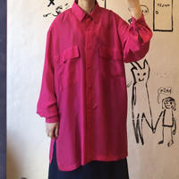 lady's shocking pink over size blouse
