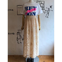 lady's 1970's vintage all lace maxi length skirt