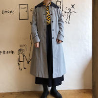 lady's plaid pattern long coat