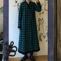 lady's green plaid pattern one-piece