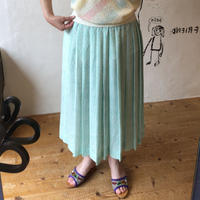 lady's patterned pleats skirt