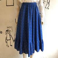 lady's bandanna pattern flare skirt