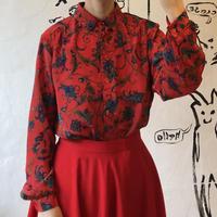 lady's scarf style pattern blouse