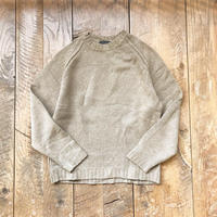 Men's raglansleeve rambswool sweater(Men's XL)