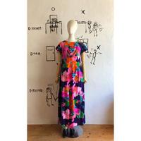 lady's 1960's vintage Hawaiian maxi length dress
