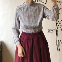 lady's stand collar  blouse