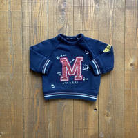 kids 〝M〟patch sweat(9M/70cm)