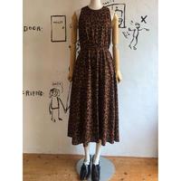 lady's animal pattern sleeve less dress