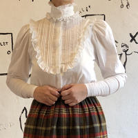 lady's Victorian style cotton frill blouse
