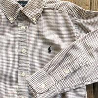 kids RALPH LAUREN L/S B.D check shirts(8T/135〜140cm)