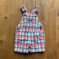 kids check short overalls