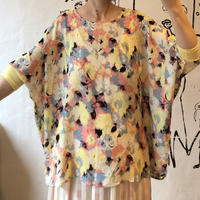 lady's pastel color wide silhouette  tops