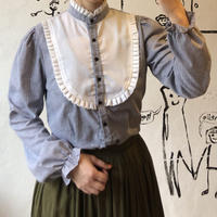 lady's tuck frill blouse