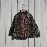 kids leopard reversible fleece jacket(4T/110cm)