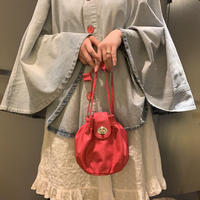 lady's  vintage  red bag