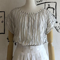 lady's vertical frill top