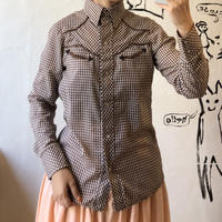 lady's 1970's plaid pattern western shirt