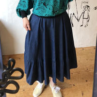 lady's 1970's denim flare skirt