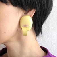 lady's yellow wood earring
