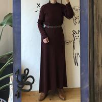 lady's bordeaux color knit  one-piece