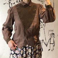 lady's plaid pattern  cavalry shirtr