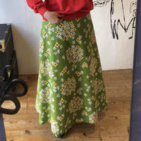 lady's floral pattern  flare skirt