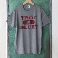 lady's college print tee shirt