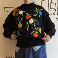 lady's embroidery sweater