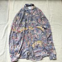 Men's L/S abstract rayon shirts