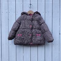 kids leopard down jacket(4T/110cm)