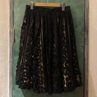 lady's 1950's vintage black lace skirt
